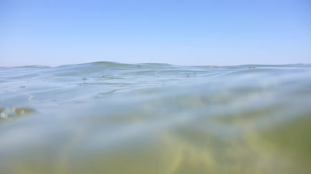 tehlike : A video shot in the sea from a swimmers perspective. Shake is intended and mimicking someone at the sea.