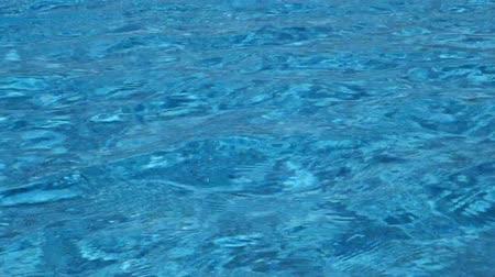 menő : Cool blue wavy water pattern from the surface of a swimming pool