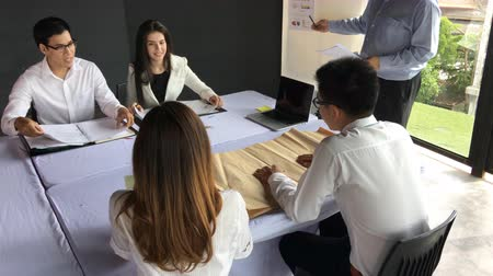 conference table : Business work concept, Teamwork meeting plan for success organization. Stock Footage