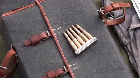 bulletproof : Leather Bag Case for guns and other necessary things a soldier in World War II