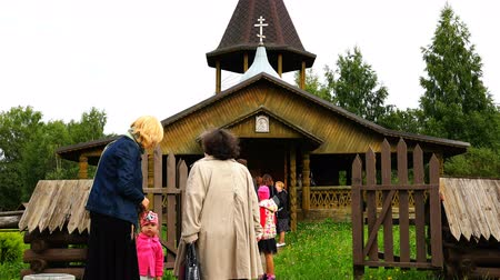baptism : people go to the Orthodox Church