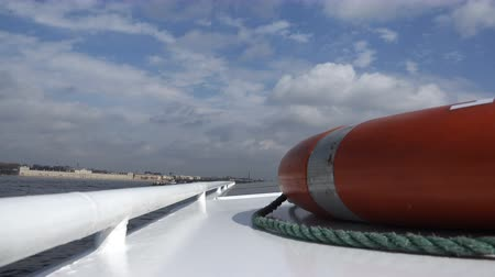 lifebuoy : the life ring lies on the roof of the ship.