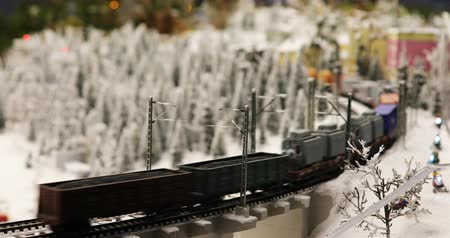 private museum : Russia, St. Petersburg, September 29, 2018 the movement of the freight train in the forest