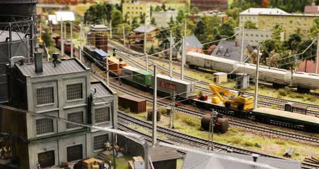 private museum : Russia, St. Petersburg, September 29 2018 railroad among the populated point
