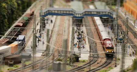 miniatűr : Russia, St. Petersburg, September 29 2018 logistics trains at the railway station Stock mozgókép