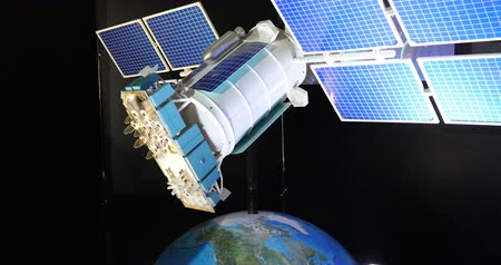 orbital : The model of the communication support satellite.