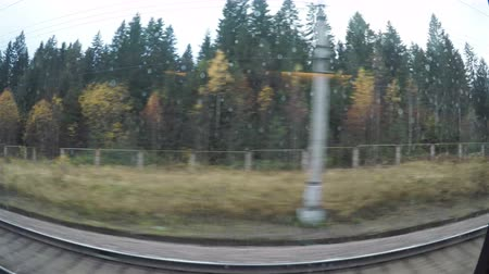 kupé : The view from the trains window.