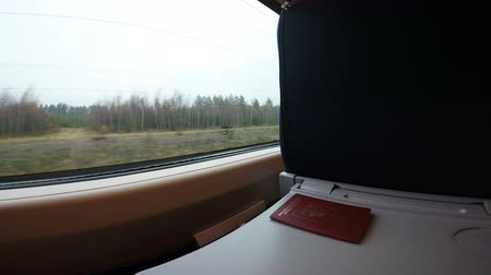 двухместная карета : Russia Saint Petersburg November 28, 2018 The passport is lying on the table in the train.