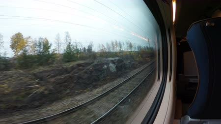 asfalto : The view of the rails from the moving train. Vídeos