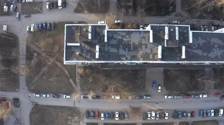 działka : Parking in the courtyard of a residential area. Aerial photography.