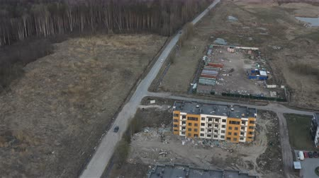 video aerial view of the embedded territory and the development of new lands.