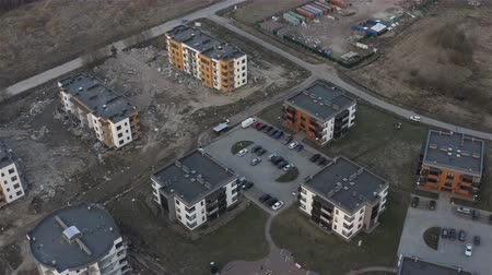 front cover : aerial photography of new buildings with equipped territory and a playground.