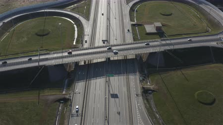 node : ring road outside the city. Aerial photography. Stock Footage
