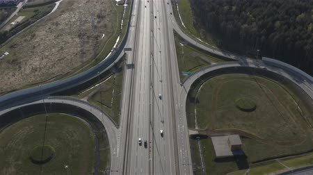 szybko : aerial view of a busy motorway.