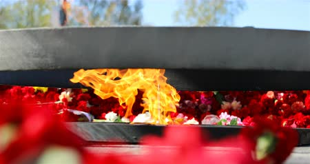 loajální : constantly burning fire, a symbol of the memory of the people of fallen heroes, fighters for freedom, for the honor of the motherland.
