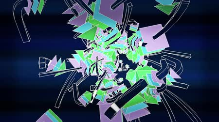 em linha : Abstract arrow collision flying art background,Cartoon toys&Fairy tale Sci-fi polygon in Virtual space.