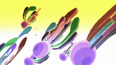 multicor : Color Sci-fi fantasy squid creatures,Abstract cartoon tentacles moveing.