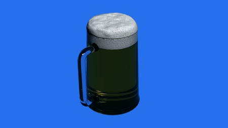 喝采 : 3 D beer.alcohol,drink,glass,cold,lager,beverage,foam,froth,pub,liquid,bar の回転