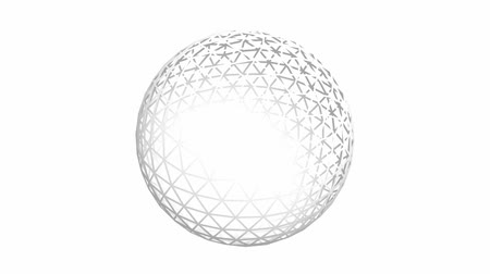 forma tridimensional : 3d grid ball frame,tech web virtual background.