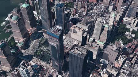 panorâmico : aerial view of New york & sunlight,spectacular city landscape.
