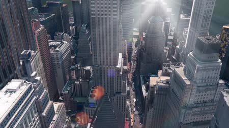 panorâmico : aerial view of New york building & sunlight,spectacular city landscape.