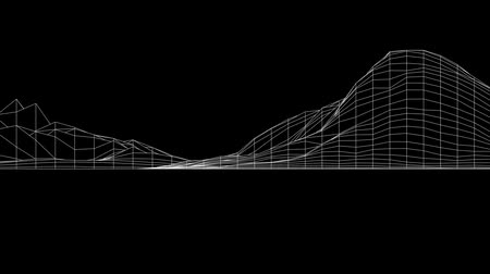 ridge line : Abstract fluctuations grid lines art,vibrating musical sound,rhythm rhythmic waves.