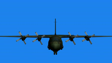 истребитель : C130 transport aircraft flying,Cabin. Стоковые видеозаписи