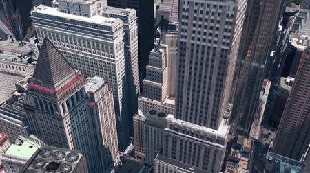 nyc : aerial view of New york building,spectacular city landscape.