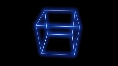 cubos : rotation cube frame,tech web virtual background. Stock Footage