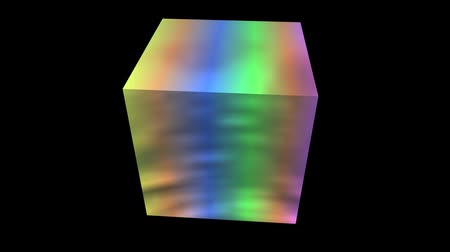 cubos : rotation rainbow colors cube,tech web virtual background.