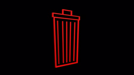 вектор : Rotation of 3D Trash.plastic,recycling,waste,garbage,bin,container,pollution,