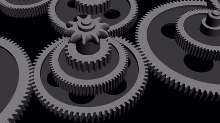 forgat : Rotation of 3D gear.mechanism,wheel,machine,engine,machinery,metal,technology,