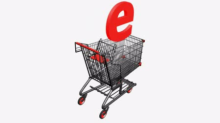 покупка товаров : Shopping Cart with Letter e.Internet,network,retail,buy,isolated,cart,design,shop,basket,