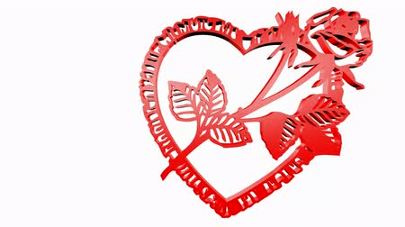 trait : Rotation of Flower rose heart.love,red,symbol,heart,valentine,romance,illustration,holiday,