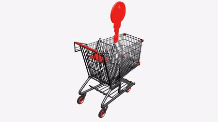 filigrana : Shopping Cart and key.retail,buy,cart,shop,basket,sale,supermarket,market,