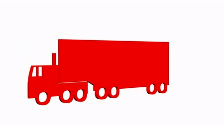 camionagem : Rotation of 3D truck.automobile,shipping,transportation,freight,cargo,vehicle,highway, Stock Footage