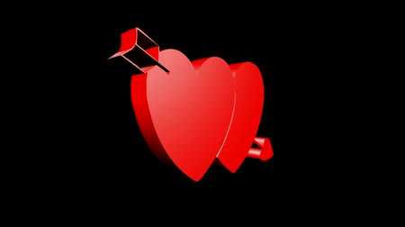 trait : Rotation of heart.bow,arrow,love,red,symbol,heart,valentine,romance,illustration,holiday,