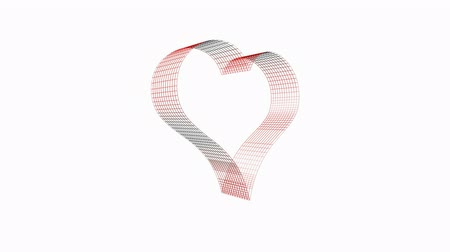 trait : Rotation of heart.Grid,mesh,love,red,symbol,heart,valentine,romance,illustration,holiday,