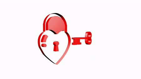 trait : Rotation of 3D heart Locks.keys,switches,tips,methods,solutions,programs,wisdom,wise,mind,thinking,creativity,