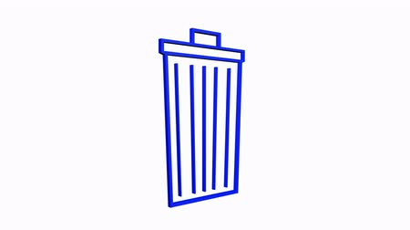 mülltonne : Drehung des 3D Trash.plastic,recycling,waste,garbage,bin,container,pollution,
