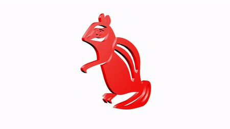 белка : Rotation of 3D Squirrel.stock,animal,nature,sciurus,rodent,tail,mammal,creature, Стоковые видеозаписи