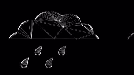 вектор : Rotation of 3D Rain cloud.storm,water,weather,nature,sky,climate,wind,thunder,Grid,mesh,sketch,structure, Стоковые видеозаписи