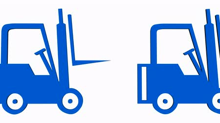 配布 : 3 D Forklift.truck,vehicle,lift,storage,transportation,warehouse,cargo,freight の回転 動画素材