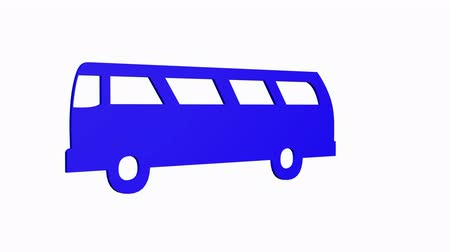 Rotation de 3D Van bus.car,transportation,bus,vehicle,coach,transport,passenger,public, Vidéos Libres De Droits