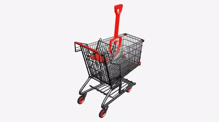 unearth : Shopping Cart and Shovel.retail,buy,cart,shop,basket,sale,customer,supermarket,market,