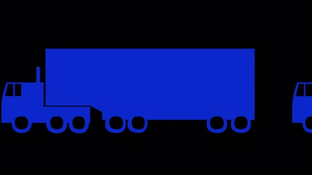 運輸 : Rotation of 3D truck.automobile,shipping,transportation,freight,cargo,vehicle,highway, 影像素材