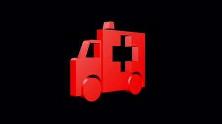 sirene : Rotazione di Ambulance.emergency,medical,help,rescue,urgent,vehicle,hospital,health 3D,