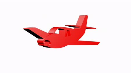 авиация : Rotation of 3D Aircraft.airplane,plane,travel,flight,transportation,aviation,fly,