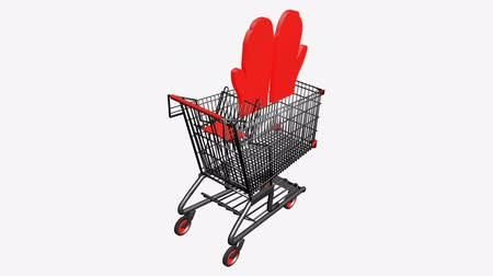 vetor : Shopping Cart and Gloves.retail,buy,cart,design,shop,basket,sale,discount,supermarket,market,