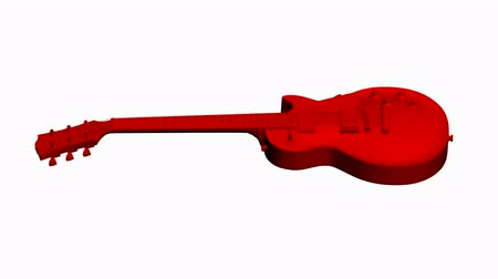 roll : Rotation of 3D Electric Guitar.music,musical,instrument,string,rock,electric,art,sound,acoustic,